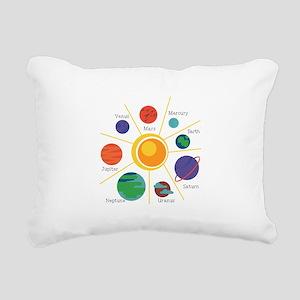 Planet Names Rectangular Canvas Pillow