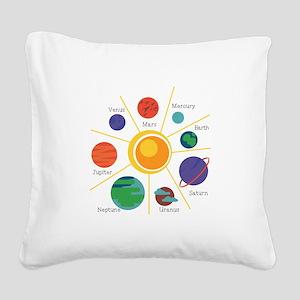 Planet Names Square Canvas Pillow