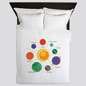 Planet Names Queen Duvet