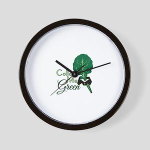 Collar Me Green Wall Clock