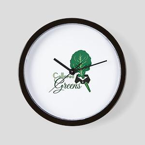Collared Greens Wall Clock