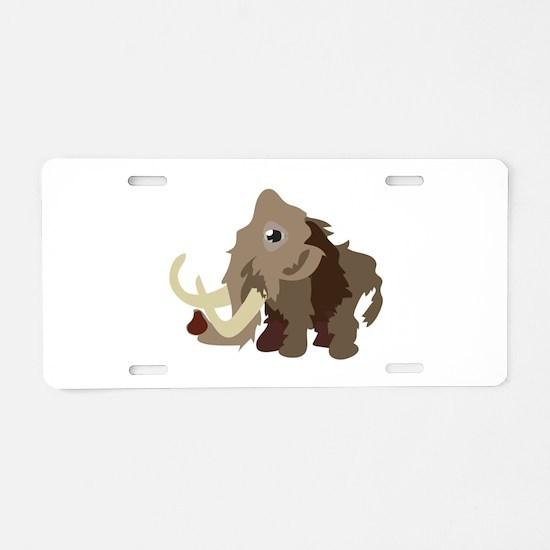 Mammoth Animal Aluminum License Plate