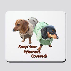 Wieners Covered Dachshunds Mousepad