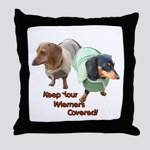Wieners Covered Dachshunds Throw Pillow
