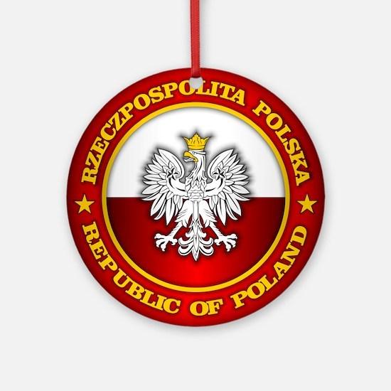 Polish Medallion Ornament (Round)