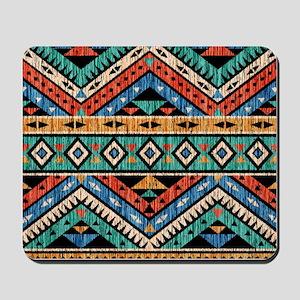Vintage Aztec Pattern Mousepad