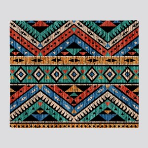 Vintage Aztec Pattern Throw Blanket