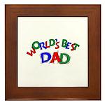 World's Best Dad Framed Tile