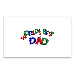 World's Best Dad Rectangle Decal