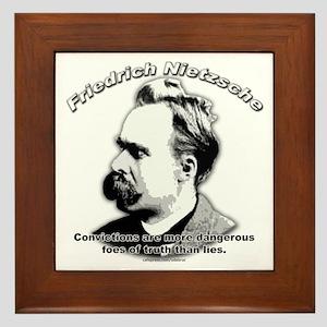 Friedrich Nietzsche 02 Framed Tile