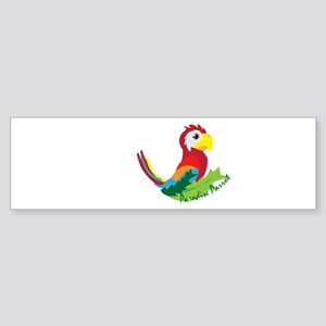 Paradise Parrot Bumper Sticker