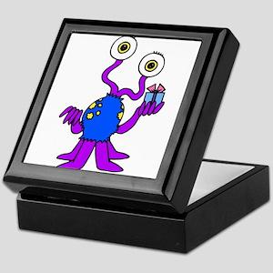 Package giving purple alien Keepsake Box