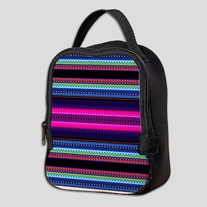 Aztec Geometric Tribal Pattern Neoprene Lunch Bag