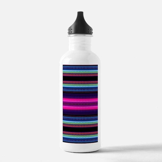 Aztec Geometric Tribal Water Bottle