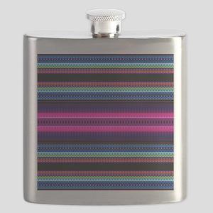 Aztec Geometric Tribal Pattern Flask