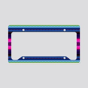 Aztec Geometric Tribal Patter License Plate Holder