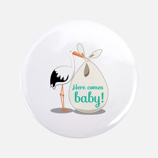 "Baby Announcement 3.5"" Button"