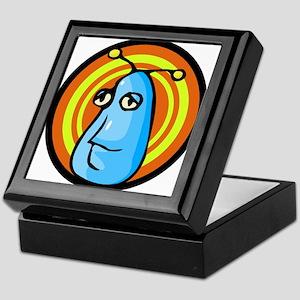 Blue Alien Head Keepsake Box