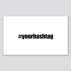 Customizable Hashtag Sticker