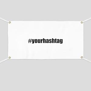 Customizable Hashtag Banner