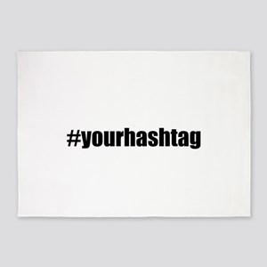 Customizable Hashtag 5'x7'Area Rug