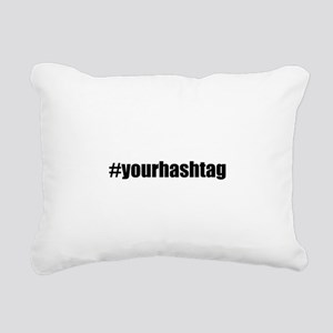 Customizable Hashtag Rectangular Canvas Pillow