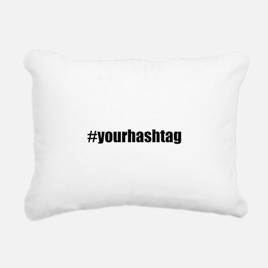 Customizable Hashtag Rectangular Canvas Pillow