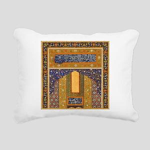 Vintage Islamic art Rectangular Canvas Pillow