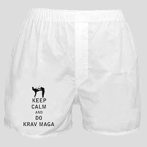 Keep Calm and Do Krav Maga Boxer Shorts