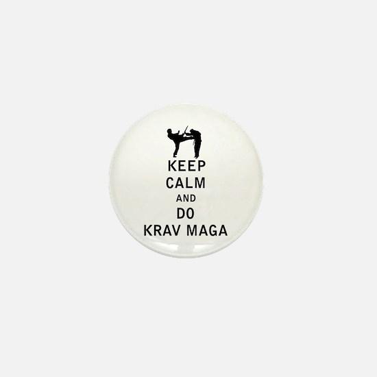 Keep Calm and Do Krav Maga Mini Button