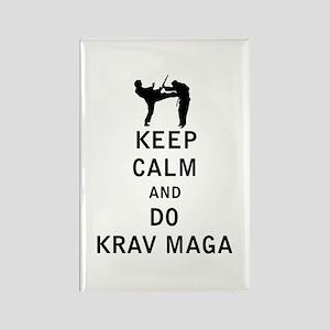 Keep Calm and Do Krav Maga Magnets