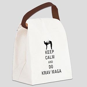 Keep Calm and Do Krav Maga Canvas Lunch Bag