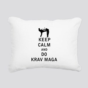 Keep Calm and Do Krav Maga Rectangular Canvas Pill