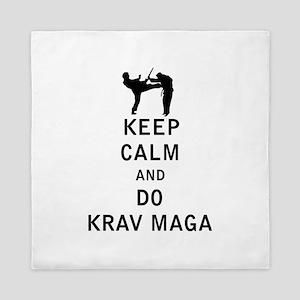 Keep Calm and Do Krav Maga Queen Duvet
