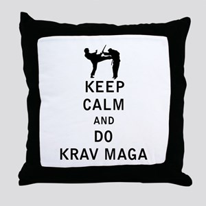 Keep Calm and Do Krav Maga Throw Pillow