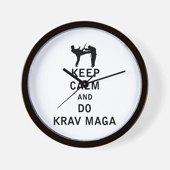 Keep Calm and Do Krav Maga Wall Clock