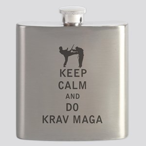 Keep Calm and Do Krav Maga Flask
