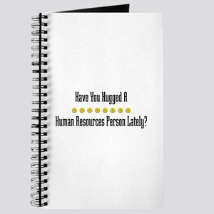 Hugged Human Resources Person Journal