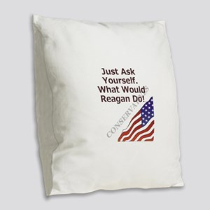 Conservative Mantra Burlap Throw Pillow