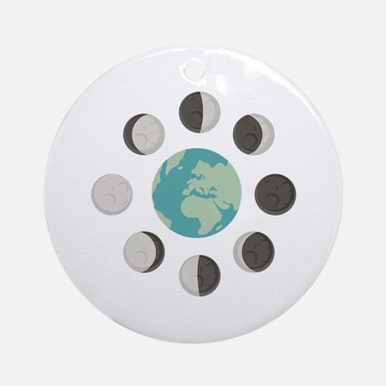 Moon Phases Ornament (Round)