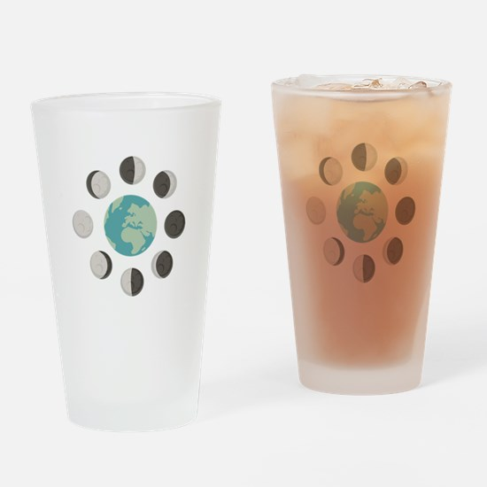 Moon Phases Drinking Glass