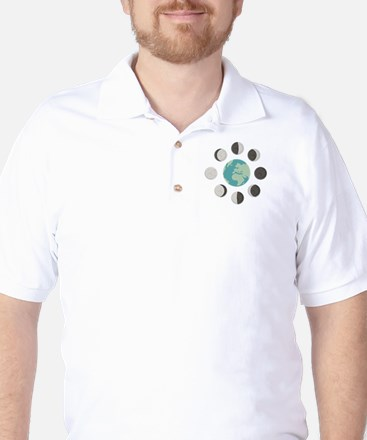 Moon Phases Golf Shirt