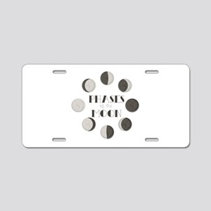 Phases of the Moon Aluminum License Plate