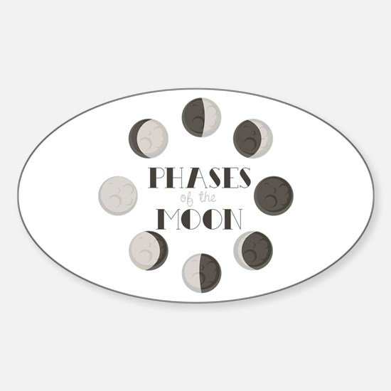 Phases of the Moon Decal