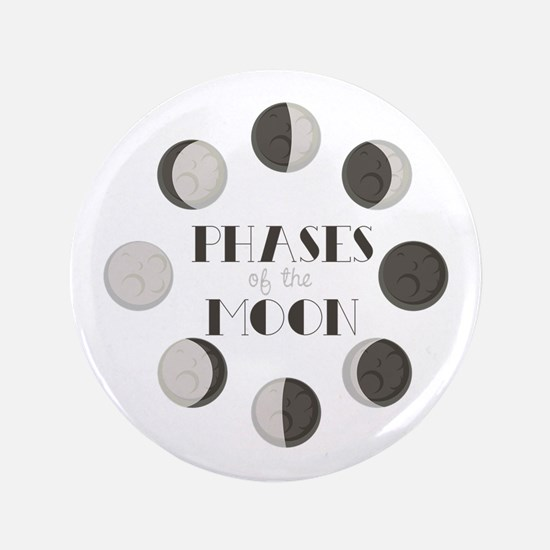 """Phases of the Moon 3.5"""" Button"""