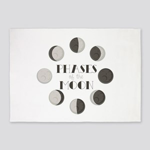 Phases of the Moon 5'x7'Area Rug