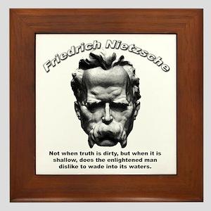 Friedrich Nietzsche 03 Framed Tile