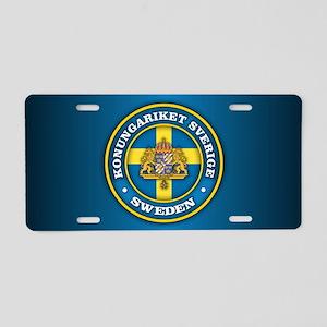 Swedish Medallion Aluminum License Plate