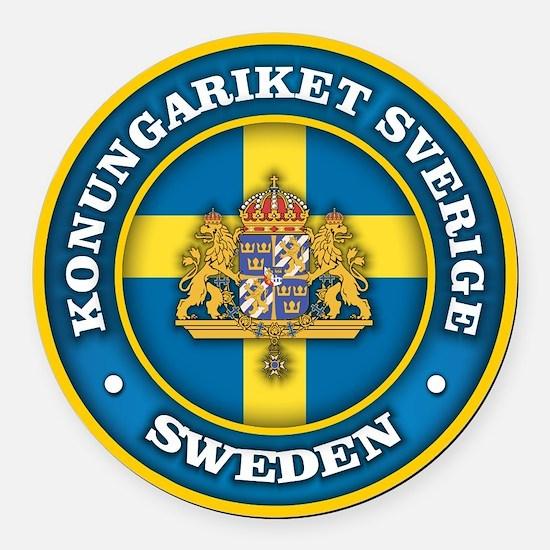 Swedish Medallion Round Car Magnet