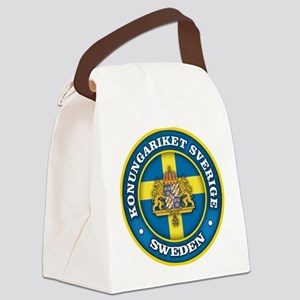 Swedish Medallion Canvas Lunch Bag